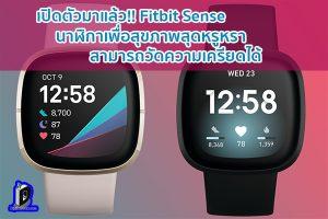 เปิดตัวมาแล้ว!! Fitbit Sense นาฬิกาเพื่อสุขภาพสุดหรูหรา สามารถวัดความเครียดได้ ข่าวเทคโนโลยี นวัตกรรมใหม่ โลกอนาคต